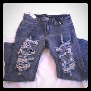 Express distressed girlfriend jeans NWT 🎀OFFER?🎀